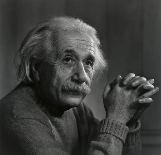 "A portrait of Albert Einstein is featured in ""Yousuf Karsh: American Portraits."" The exhibition, from the Smithsonian's National Portrait Gallery, will be on display at the Rockwell Museum in Corning from Feb. 5-May 5..24"