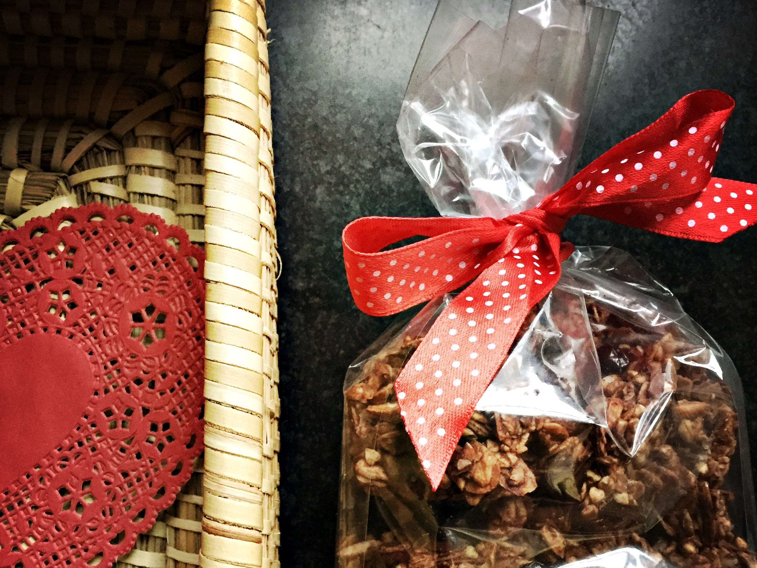 A bagged batch of granola is a simple gift to brighten your Valentine's day.