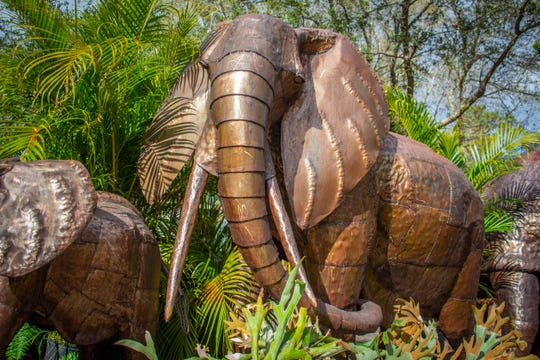"This metal elephant, along with 15 other pieces of a collection dubbed ""Sculpture Safari"" soon will be on display at the Brevard Zoo."