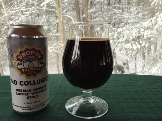 Drop-In Brewing Co. in Middlebury has created a Russian imperial stout with a whiff of political intrigue.