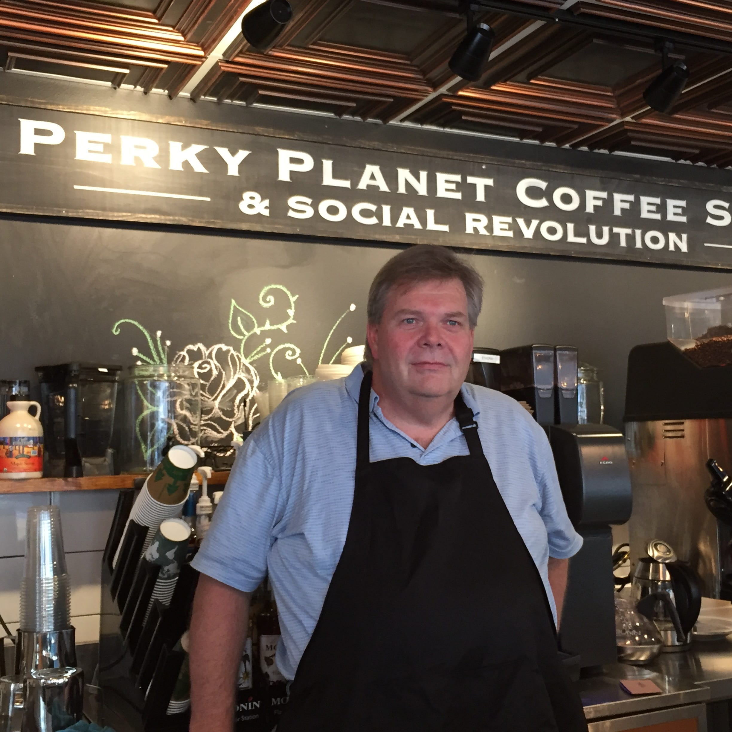 New coffee shop Perky Planet is now open in Burlington. It wants a 'social revolution.'