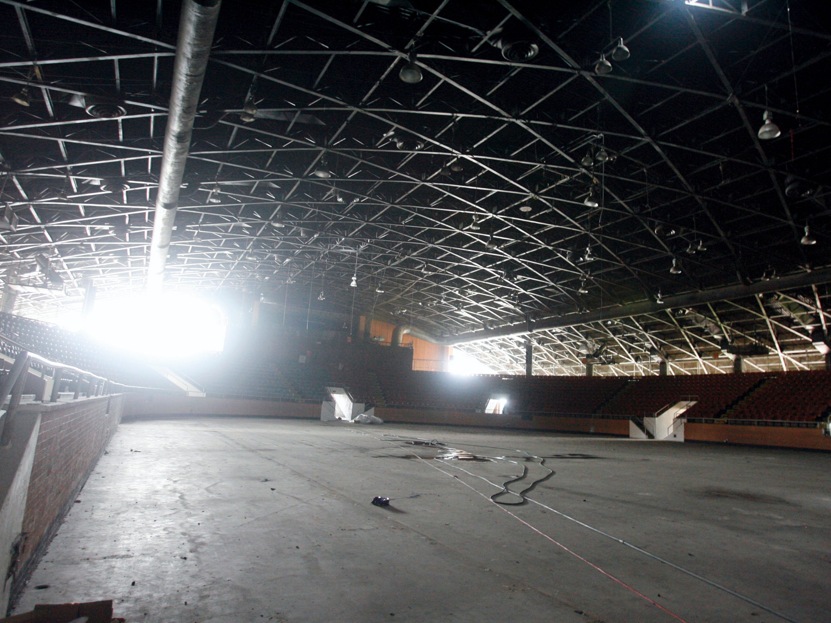 The interior of the Memorial Coliseum is shown on Friday, May 14, 2010.