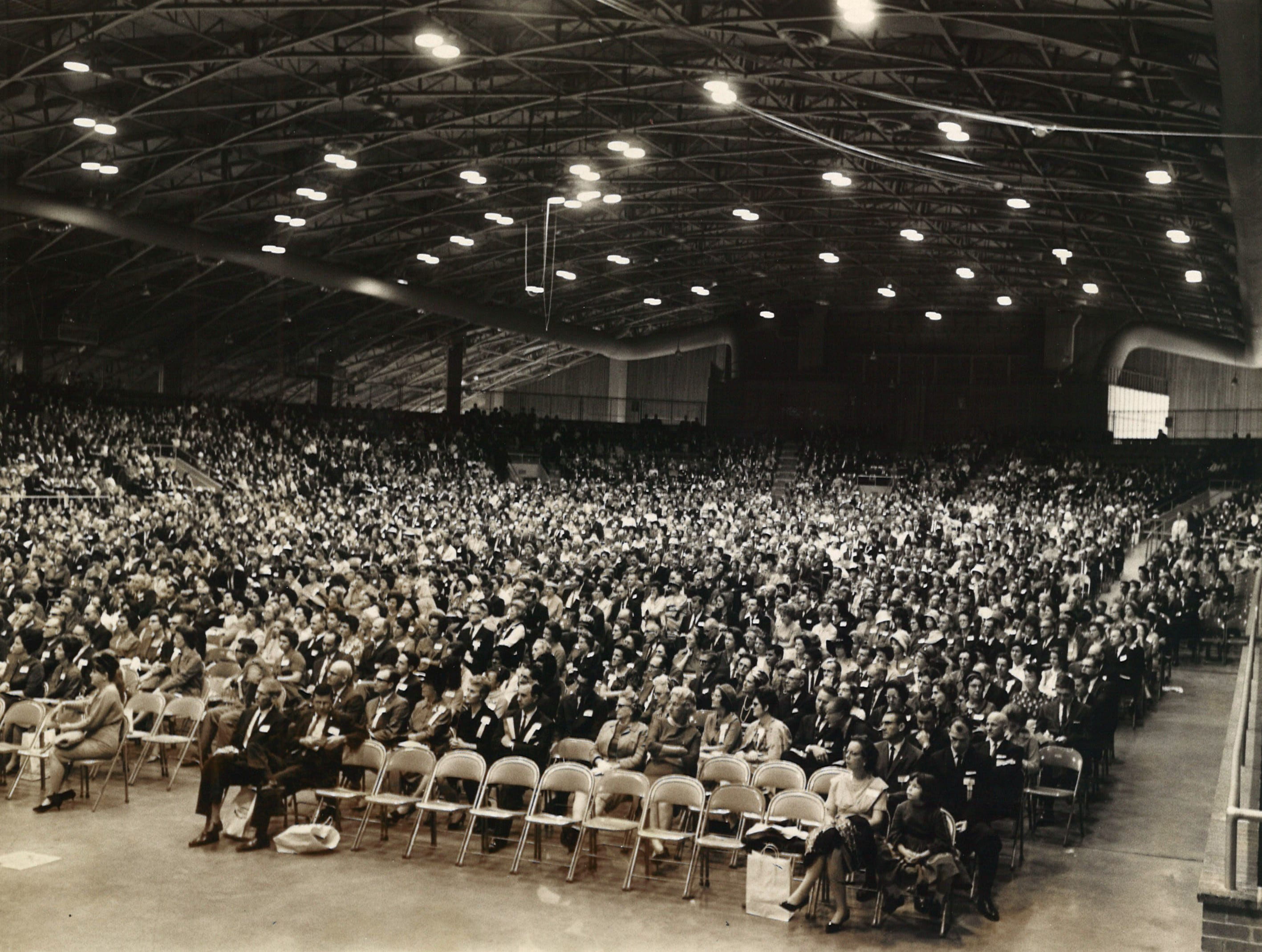 An unidentified event takes place in Corpus Christi's Memorial Coliseum in this undated photo from the Caller-Times archives. Recognize the event? Send us an email at metrodesk@caller.com.