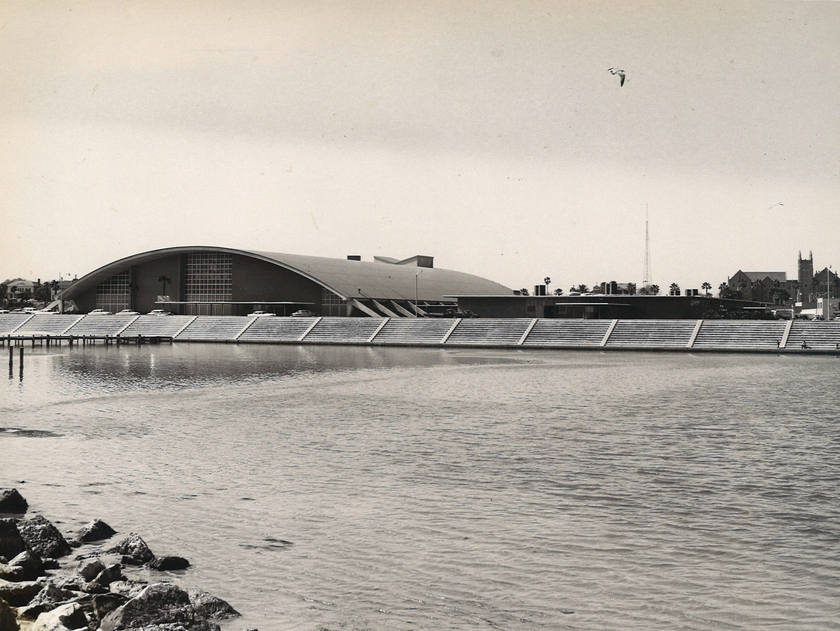 Corpus Christi's Memorial Coliseum and Exposition Hall  in February 1958.