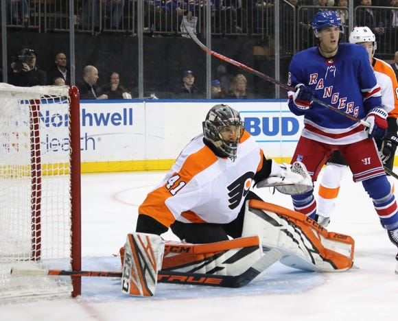 Anthony Stolarz had a 38-save shutout, his second career clean slate.