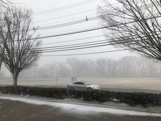 A snow squall moved through Cherry Hill shortly before 3 p.m. Wednesday.