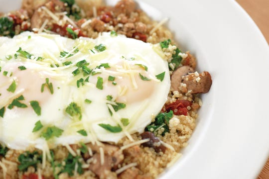 A Power Breakfast Quinoa Bowl from First Watch gets the day off to a very healthy start.