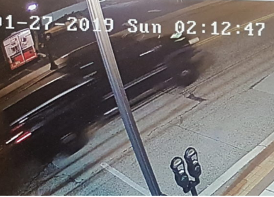 Police say this pickup truck dropped off a man at the PATCO Hi-Speedline's Westmont station early Sunday.