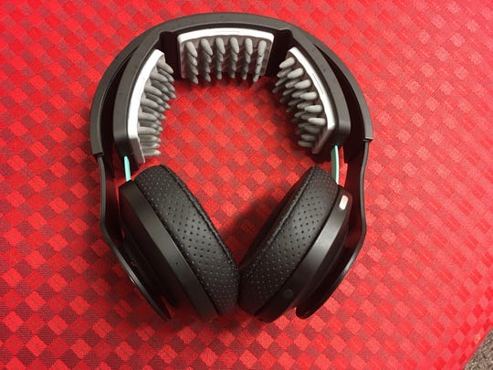 A pair of Halo headphones that UC uses to stimulant the brain and improve physical activity