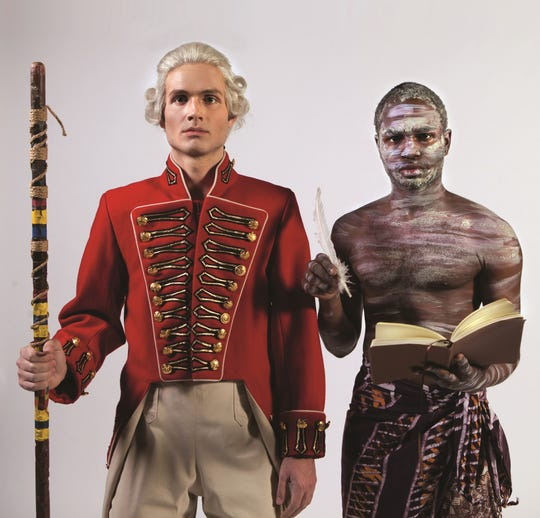 """Isaac Hickox-Young (left) and Jabari Carter are seen in a promotional photo for the College-Conservatory of Music's production of """"Our Country's Good,"""" Timberlake Wertenbaker's play based on Thomas Keneally's novel, """"The Playmaker."""" The production runs Feb. 14-17 (Feb. 13 preview) in CCM's Patricia Corbett Theater."""