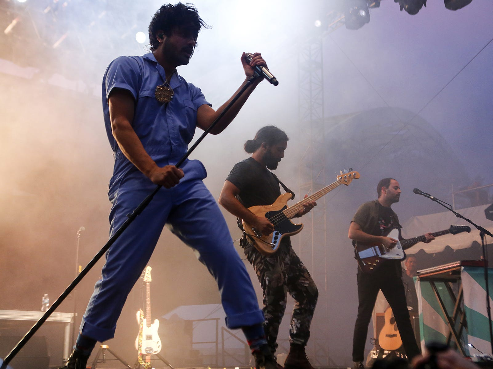 Young The Giant performs during the first day of Bunbury Music Festival on Friday, June 1, 2018, at Sawyer Point, in Cincinnati.