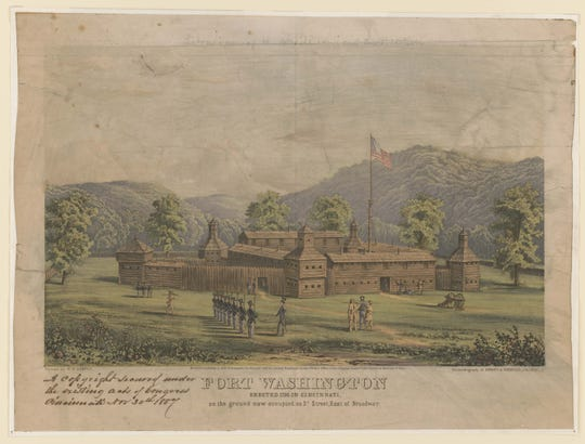 Fort Washington was erected in 1790 to protect the settlers of the Northwest Territory, including Cincinnati.