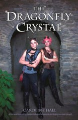 The Dragonfly Crystal book cover features Cassidy Sanders as Princess Cassia and Danielle Morey as Dani two characters in the story