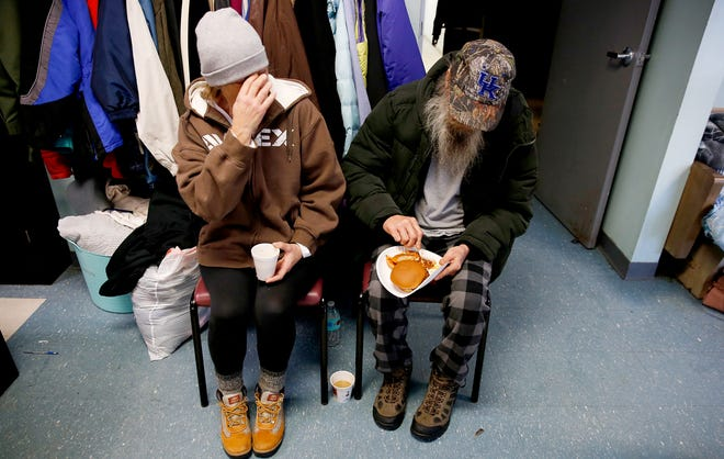 The Emergency Shelter of Northern Kentucky in Covington provided coffee and hot meals to 49 people who stayed overnight due to the extreme cold temperatures Wednesday, January 30, 2019.  Emergency cold shelters have opened across the Greater Cincinnati as the wind chill has reached 20 below zero in parts of the area.