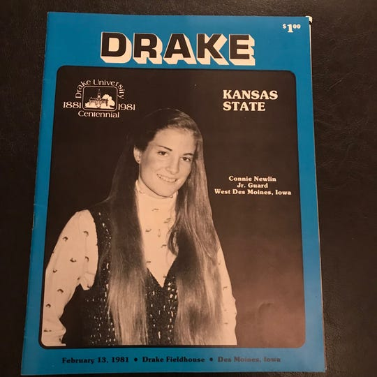Connie Newlin was a basketball star at West Des Moines Valley and Drake University.
