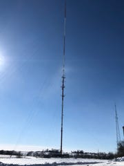 Police say their investigation shows that 13-year-old Corey Brown was severely injured when he fell from this tower on Marshalltown's south side. Brown was found dead Sunday, Jan. 27, 2019.