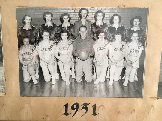 Jon Darsee's mother, Vionne (third from left in front row) earned honorable mention all-state honors three times.