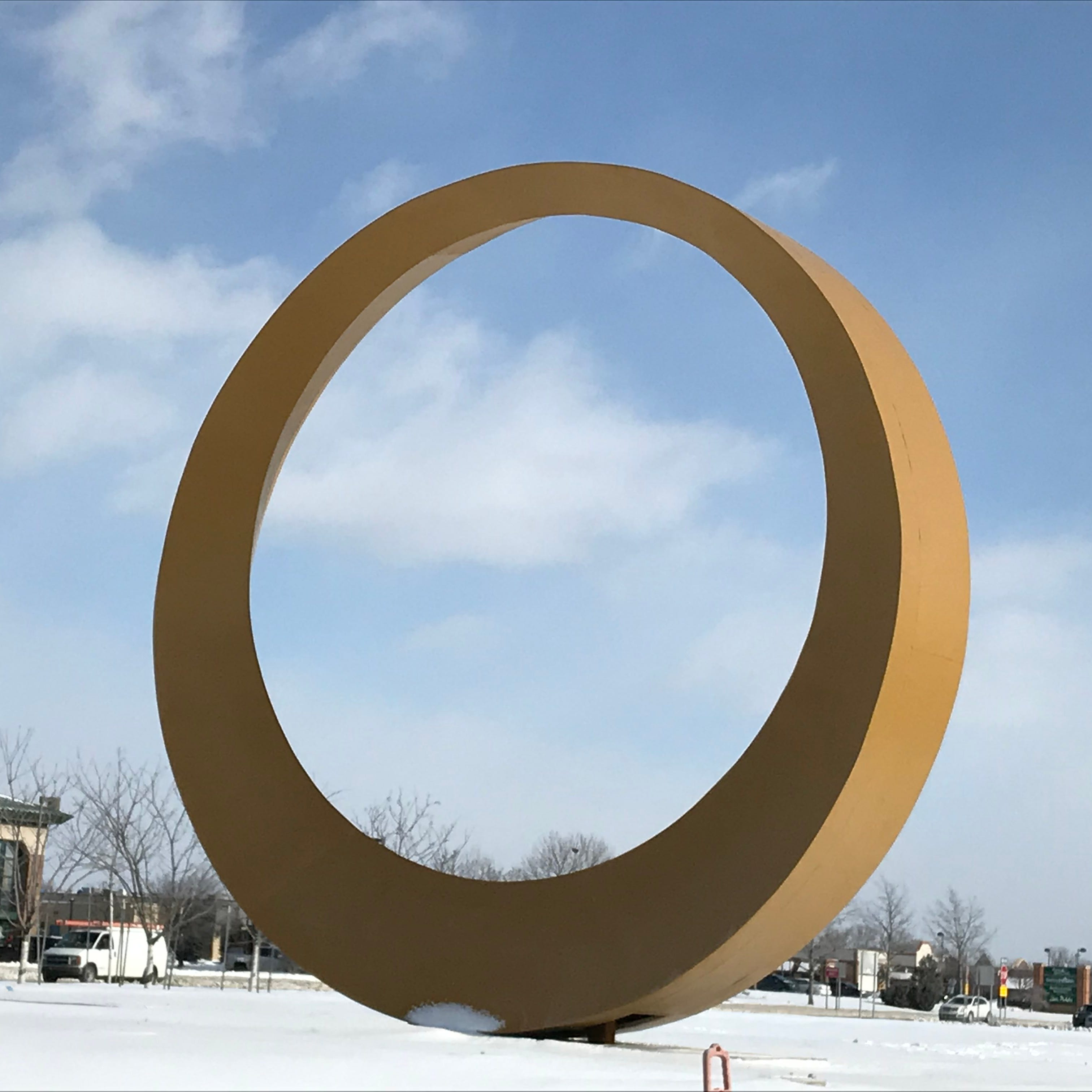 'The Halo' wins name for golden icon in Sterling Heights