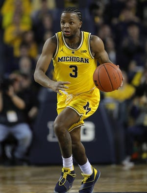 Michigan guard Zavier Simpson during the second half of the 65-49 win over Ohio State on Tuesday, Jan. 29, 2019, at Crisler Center.