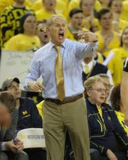 Michigan  coach John Beilein on the bench during the 65-49 win over Ohio State on Tuesday, Jan. 29, 2019, at Crisler Center.