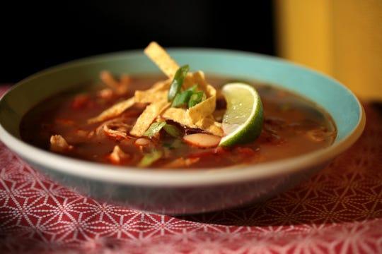 Slow cooker Tortilla soup.