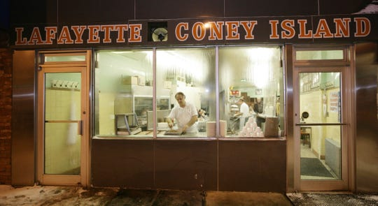 The exterior of Lafayette Coney Island in downtown Detroit.