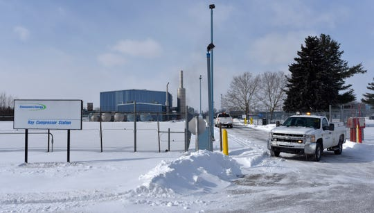 Consumers Energy's Ray Compressor Station on Omo Road, just north of 32 Mile in Armada Township, has 41.2 billion cubic feet of storage. It is the company's largest underground natural gas storage and compressor facility.