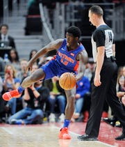 Khyri Thomas scored 15 in Pistons' 105-85 loss to the Nets in an NBA Summer League quarterfinal game in Las Vegas on Saturday.