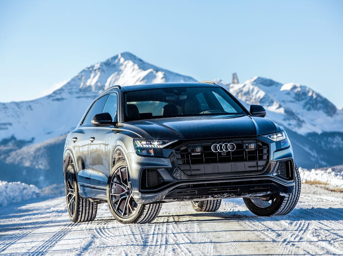 The 2019 Audi Q8 caps the brand's SUV lineup with a five-seat model that puts extra emphasis on sporty design, performance and an upscale interior.