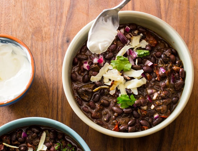 """Black Bean Chili in Brookline, Mass. This recipe appears in the cookbook """"Multicooker Perfection."""" ("""