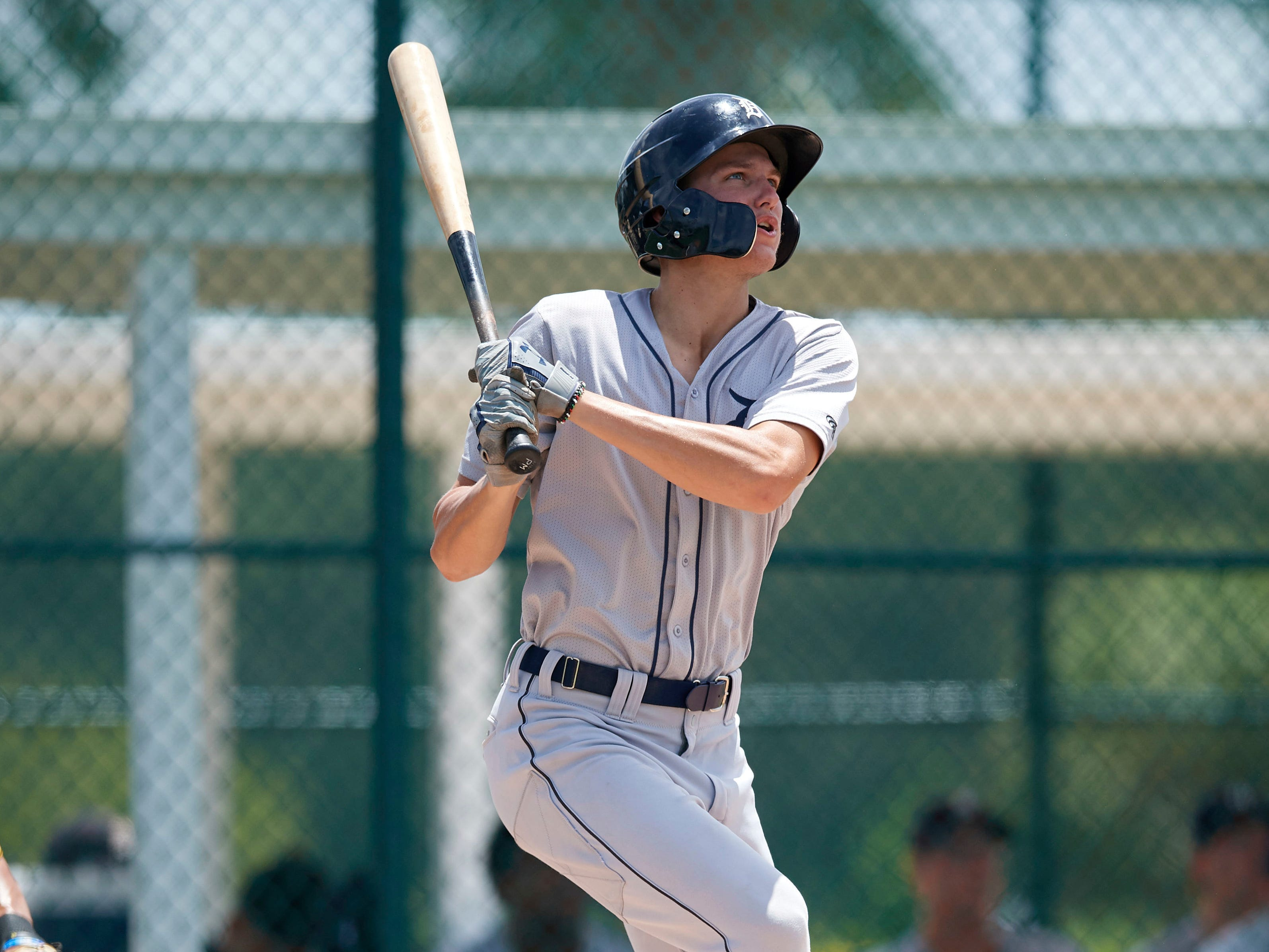 5. Parker Meadows, RF, 19, 6-5, 185: Tigers believe they got first-round talent in the second round when they grabbed Meadows last June. He got dinged during some rookie games but should unveil that left-handed bat, speed, and all-around portfolio in 2019. The Tigers desperately needed this kind of player and hitter in their system. They got him – as 2019 should affirm. He's fresh out of high school, but a gifted talent whose brother, Austin, already has cracked the big leagues.