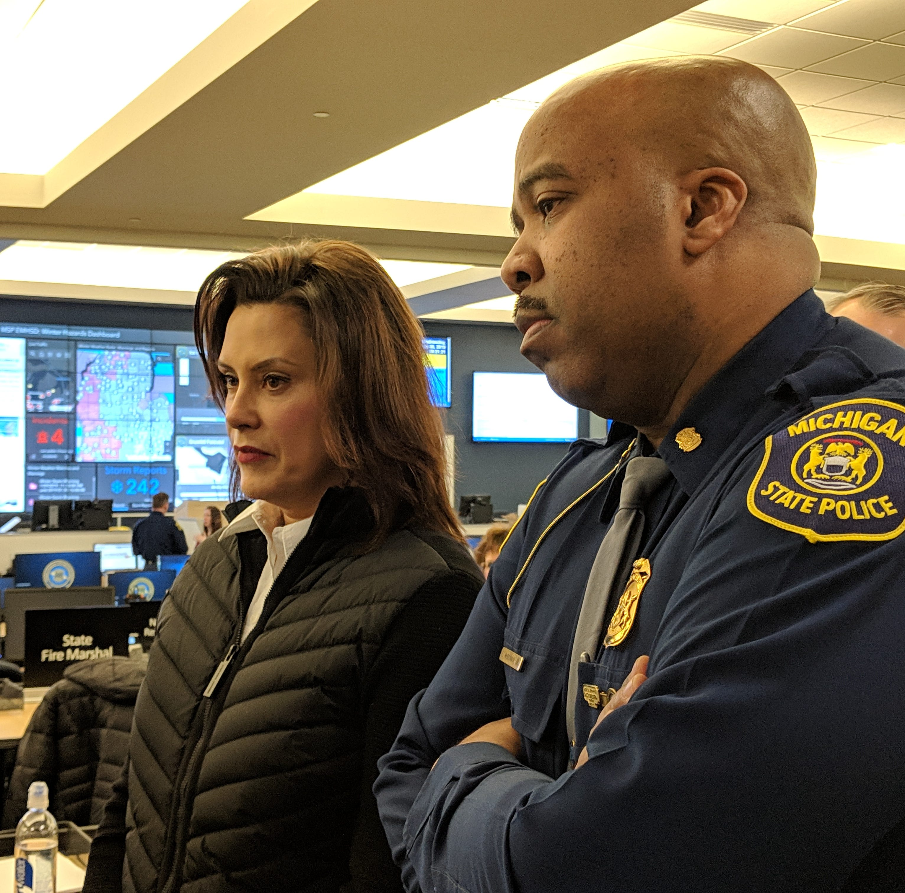 Whitmer keeps state offices closed amid bitter cold, opens aid talks with Trump officials