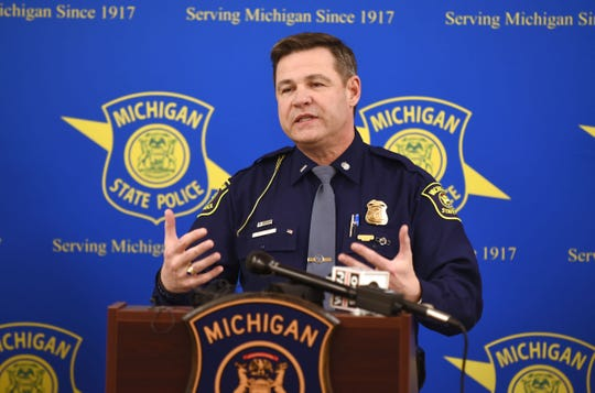 Michigan State Police Lt. Michael Shaw speaks to the news media on Wednesday about the shooting death of a 3-year-old boy on the Southfield Freeway after the suspect turned himself in to police.
