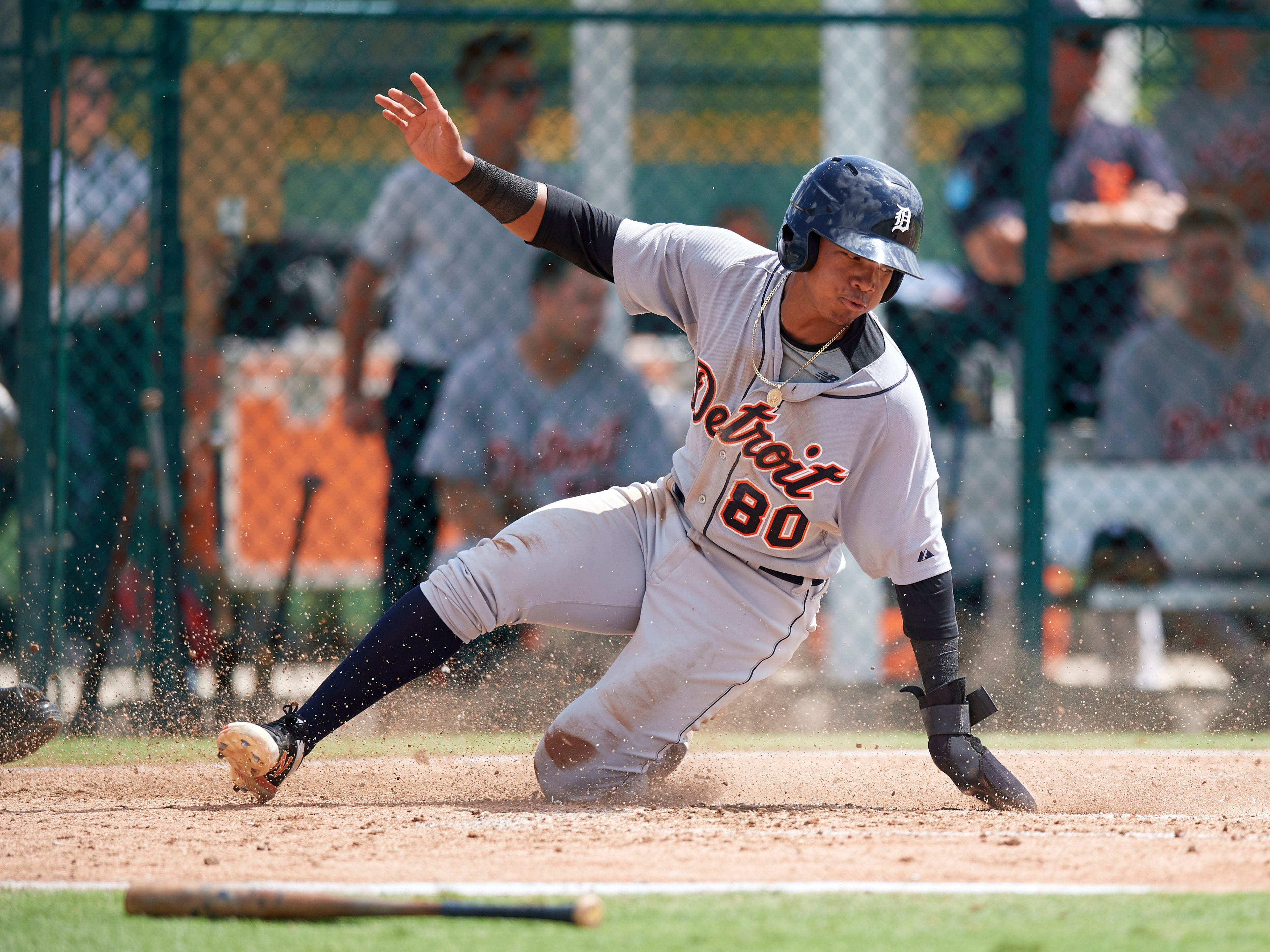 7. Wenceel Perez, SS, 19, 5-11, 170: The Tigers paid him royally three years ago to join their Comerica Park Corps. He could be Detroit-bound rapidly. He's a switch-hitter who, if 2019 goes as well as projected, would invite thoughts about how soon Perez will be your next Tigers starter. This is one of the team's thoroughbred talents. Have fun watching him in 2019 – and beyond.