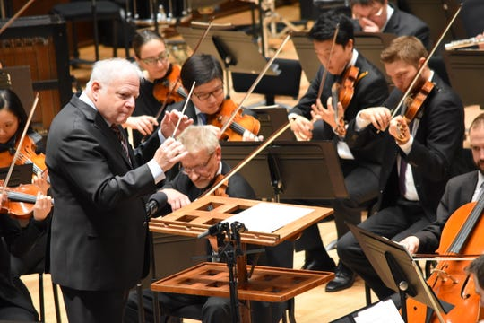 "Leonard Slatkin of the DSO conducts last February's ""French Festival."" This year's three-week winter festival is ""American Panorama."""