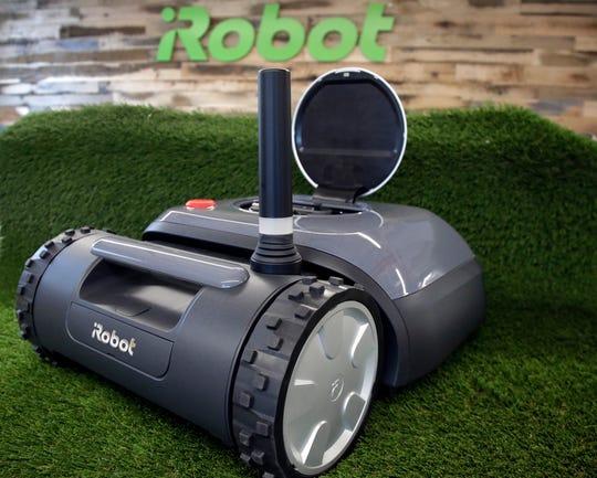 An iRobot Terra lawn mower.