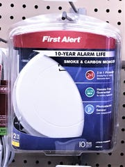 This 10-year, sealed smoke and carbon monoxide detector is available for sale at Bulkhead Hardware and other outlets. A new state law will require all new smoke detectors sold to be either sealed alarms or hardwired systems.