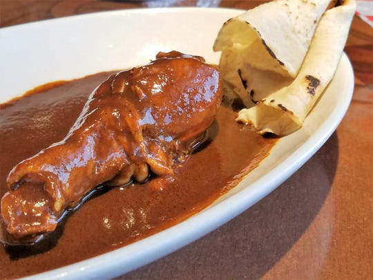 When you have molé, that's all you need. The sauce is served generously, poured over simply cooked chicken or pork and served with homemade tortillas at Lucy's Traditional Tex-Mex Restaurant.