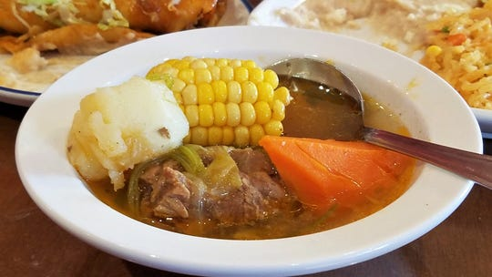 Caldo de res beef soup at Lucy's Traditional Tex-Mex Restaurant.