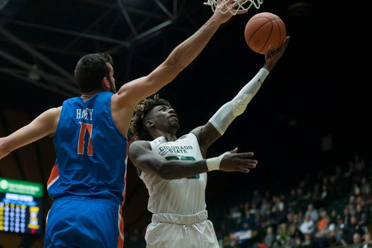 Colorado State University junior guard Kris Martin (30), shown in a file photo, scored a game-high 19 points in a 91-70 win at San Jose State on Wednesday.