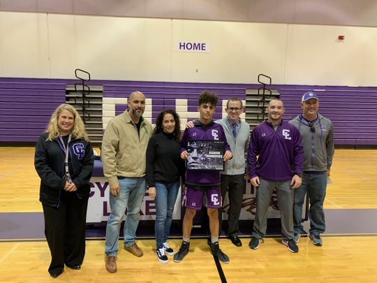 Cypress Lake senior wrestler Darius Rodriguez was honored during the Panthers' Senior Night on Tuesday.