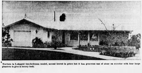 The 2-bedroom Nocturne model was available for $15,200 in 1966.