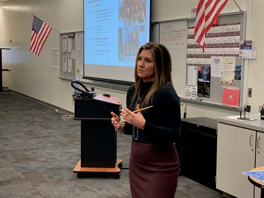 Brittany Wagner, who was featured on the first two seasons of Netflix's Last Chance U, visited South Fort Myers High School on Wednesday to speak to teachers and administrators.