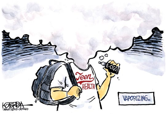 Vaping commentary from Jeff Koterba, Omaha World Herald, NE