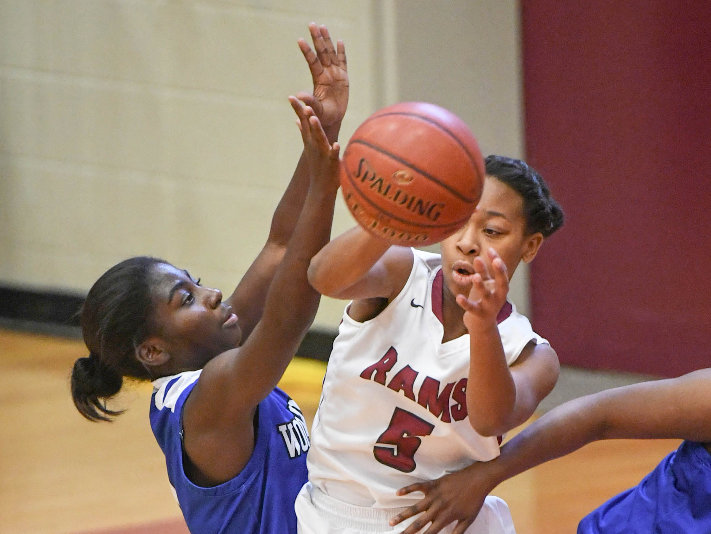 Westside senior Chelsea Adger(5) passes the ball during the third quarter at Westside High School in Anderson on Tuesday.