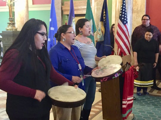 A rally was held in the Capitol rotunda Wednesday in support of the bills that proponents say are important for Indian Country.