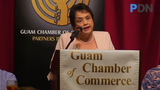 """Gov. Leon Guerrero tell Guam Chamber of Commerce members that the collection of """"millions of dollars"""" in unpaid taxes will be a priority."""