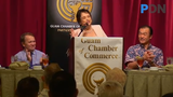 Gov. Lou Leon Guerrero expresses her intent to collect $60M in Earned Income Tax Credit from the federal government, as she speaks at the Guam Chamber of Commerce general meeting.