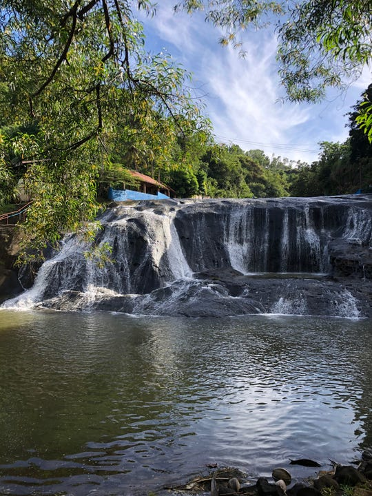 """View of """"the natural waters of Guam"""" at Talofofo Falls taken by Johnathon Caine Lujan."""