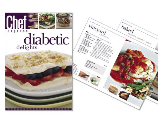 eCookbook - healthy recipes for diabetics and beyond